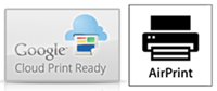 Google Cloud Print and Apple AirPrint Ready