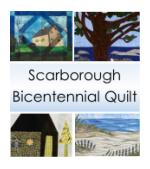 Scarborough Bicentenniall Quilt, Scarborough Bicentennial Series, Maine Bicentennial